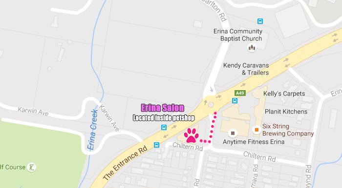 Erina Salon Map